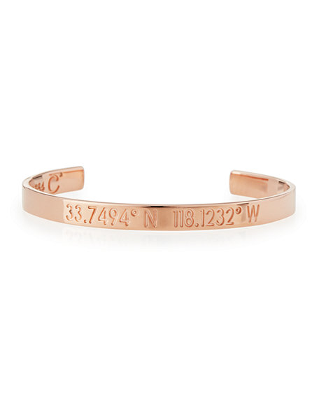 Coordinates Collection Legend Engraved Bangle Bracelet