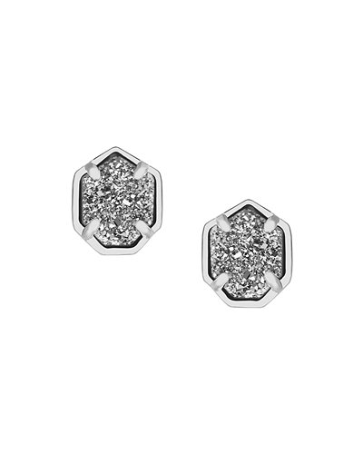 earrings products img made grande to stud layer blue druzy hexagon titanium