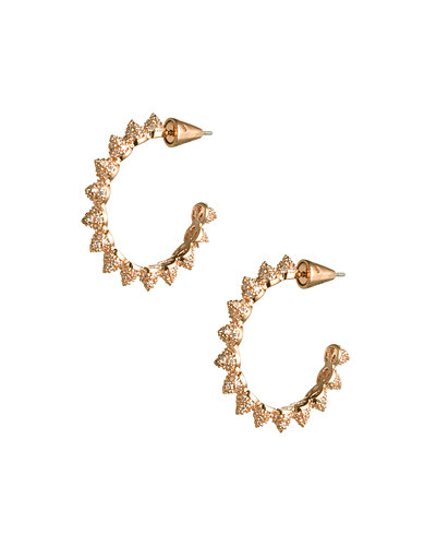 Eddie Borgo Pave Mini Cone Hoop Earrings