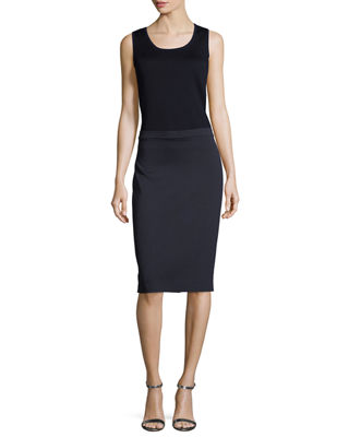 Image 3 of 3: Milano Knit Pencil Skirt