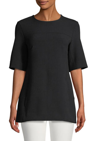 Lela Rose Short-Sleeve Tunic