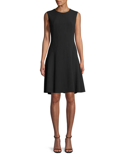 Lela Rose Sophia Seamed Drop Waist Dress