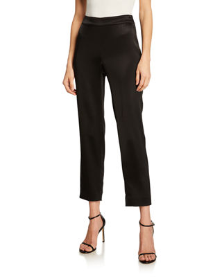 St. John Collection Liquid Satin Side Zip Cropped
