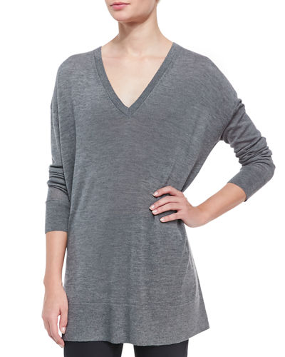 Amherst Long-Sleeve Oversized V-Neck Sweater