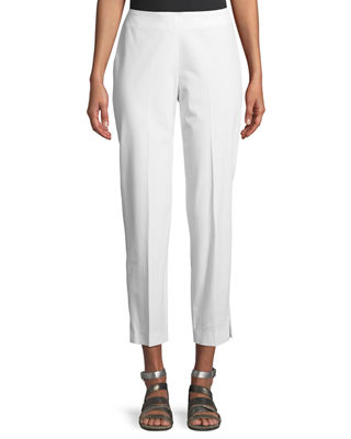Cropped Stretch Cotton Pants