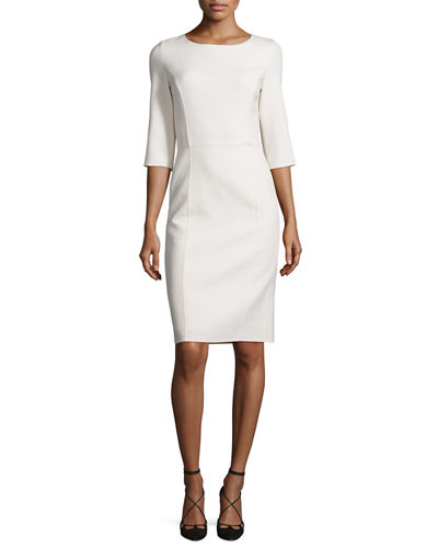 Carolina Herrera Double-Faced Belted Wrap Coat & Princess-Seamed