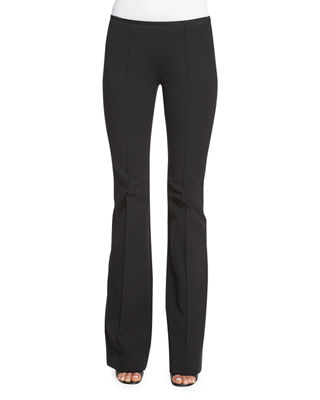 Image 1 of 3: Mid-Rise Flare-Leg Pants