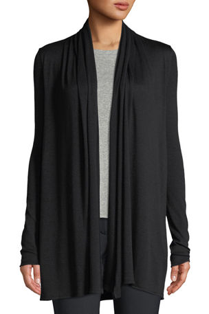 THE ROW Knightsbridge Open-Front Sweater, Black