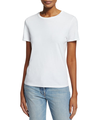 THE ROW Wesler Short-Sleeve Top