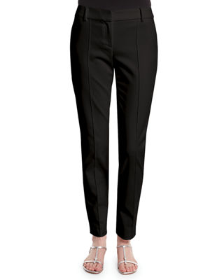 Image 1 of 2: Stretch Micro Ottoman Pintucked Ankle Pants