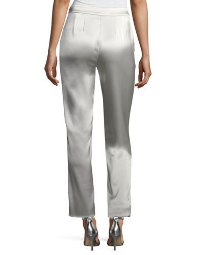 Emma Liquid Satin Cropped Pants