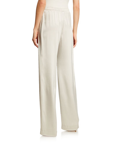 Liquid Satin Wide-Leg Pants