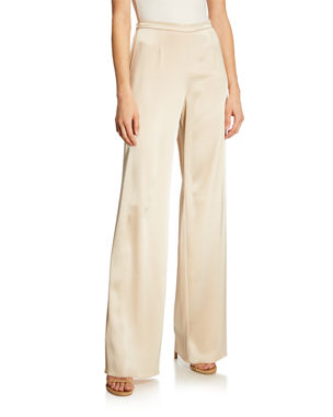 St. John Collection Liquid Satin Wide-Leg Pants 6ee16b34b