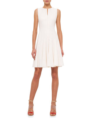 Akris Sleeveless Fit-&-Flare Zip Dress