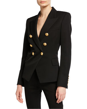 558937532c7 Balmain Classic Double-Breasted Wool Blazer