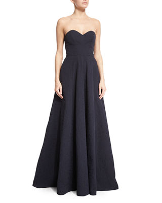 Strapless Sweetheart-Neck Gown