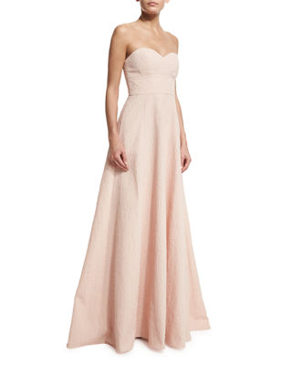 Image 1 of 5: Strapless Sweetheart-Neck Gown