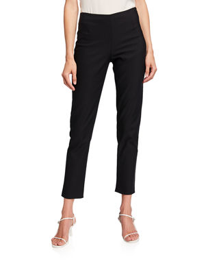 Lela Rose Catherine Slim-Leg Ankle Pants 6492f0ed6
