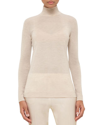 Image 1 of 2: Cashmere-Blend Turtleneck Sweater