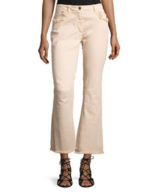 Etro Fringe-Trim Flared Ankle Jeans
