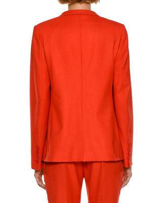 Image 2 of 4: Fleur Stand-Collar One-Button Jacket