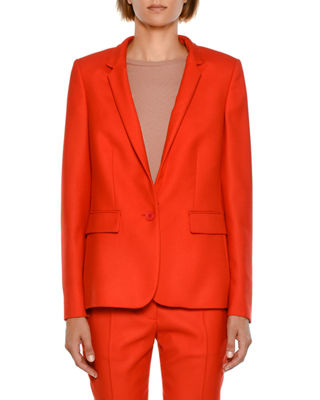 Stella McCartney Fleur Stand-Collar One-Button Jacket