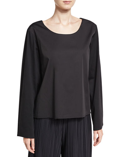 THE ROW Angelina Scoop-Neck Cotton Top and Matching