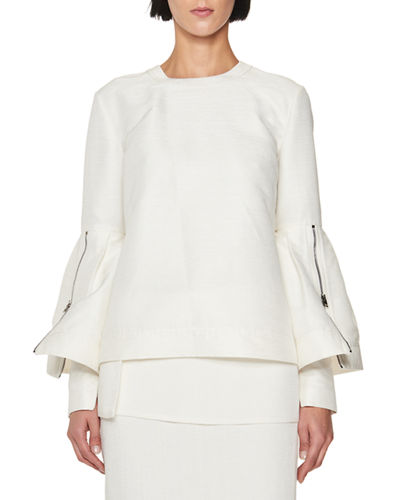 TOM FORD Crewneck Bell-Sleeve Top and Matching Items