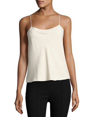 Biggins Stretch-Silk Crepe De Chine Camisole, Cream