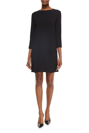 THE ROW Marina 3/4-Sleeve Dress with Pockets