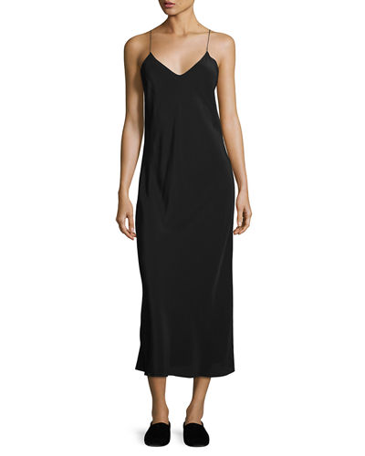 THE ROW Gibbons Sleeveless Bias-Cut Dress