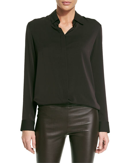 THE ROW Petah Classic Georgette Blouse