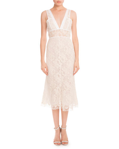 Lace Sleeveless A-Line Dress