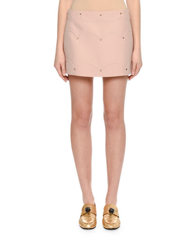 Valentino Rockstud Scalloped Crepe Miniskirt and Matching Items