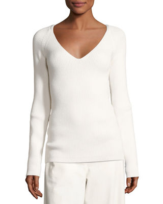 Candice Ribbed V-Neck Sweater
