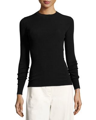 Image 1 of 3: Ridiah Long-Sleeve Crewneck Sweater