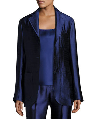 Image 1 of 4: Posner Three-Button Blazer Jacket