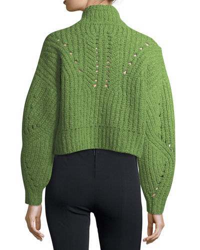 Farren Chunky Cropped Mock-Neck Sweater
