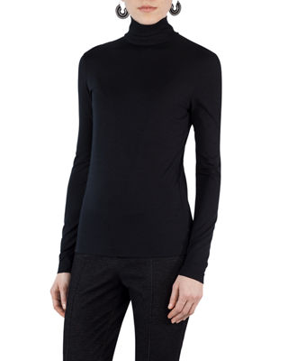 Akris punto Stretch-Modal Turtleneck Sweater