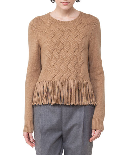 Akris punto Fringed Cable-Knit Sweater and Matching Items