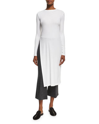 Rosetta Getty Side-Slit Midi Tunic T-Shirt