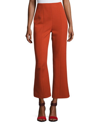 Narciso Rodriguez Wool High-Waist Cropped Straight-Leg Pants