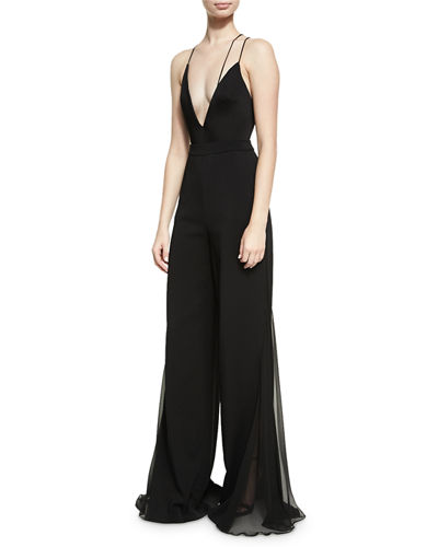Phillipa Palazzo Pants with Chiffon Inset