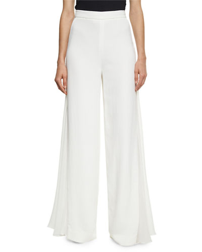 Cushnie Et Ochs Phillipa Palazzo Pants with Chiffon