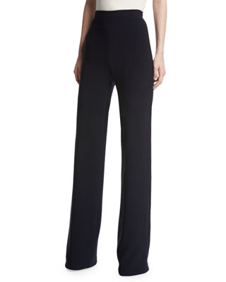Brandon Maxwell High-Waist Crepe Wide-Leg Trousers and Matching