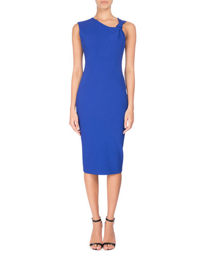 Knotted Sleeveless Sheath Dress
