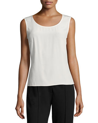 Escada Nuppa Silk Scoop-Neck Tank