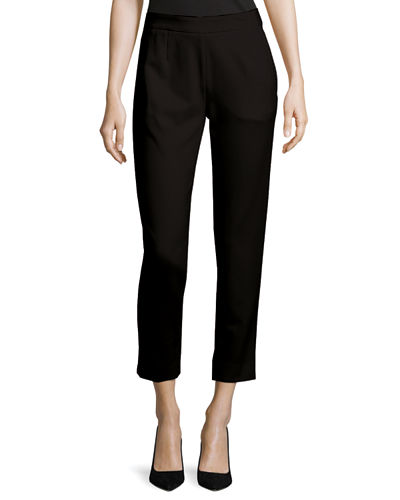 Escada Tsisa Cropped Jersey Straight-Leg Pants and Matching