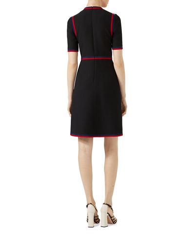 Gucci Wool Silk Dress with Web