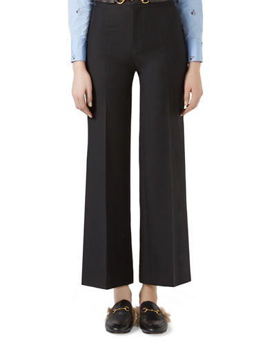Gucci Wool-Silk Horsebit Pants